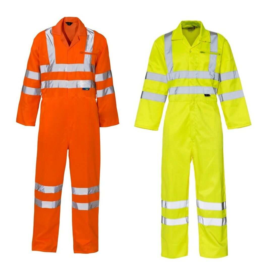 Details about Hi vis Viz Safety Workwear Coverall Overall Boiler Suit Full Body Protection