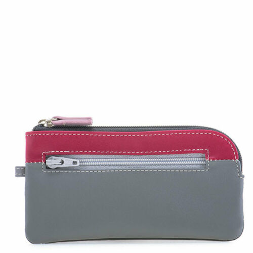 Mywalit Leather 13cm Quality Coin Purse Zipper Closure Gift Boxed 267 Storm Grey