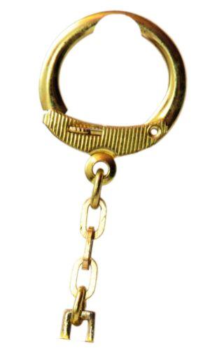 Orig 1954 Schlüsselanhänger FIAT Diamantschliff Metall massiv Trapez Anhänger