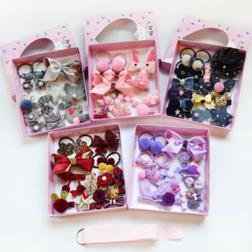 Baby Girl Kids Hairpin Hair Clip Bow Flower Mini Barrettes Star Infant 18Pcs set