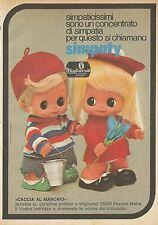 X4691 Simpaty - MIGLIORATI le bambole dei sogni - Pubblicità 1975 - Advertising