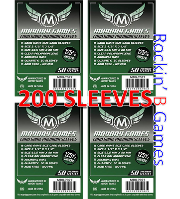 10 packs 5 SW 75mm x 105mm Mayday Boardgame Sleev Mega Civilization Sleeves