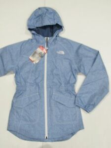 New with tag Girls North Face Denim Blue Sophie Rain Hooded Parka ... bf89702b2