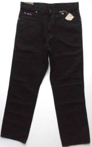 ORIGINALE Wrangler Da Uomo Comfort Fit Zip Fly Jeans Nero Girovita 30 Ohio