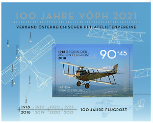 2018-Austria-s-s-100-Years-Austrian-Air-Mail-MNH