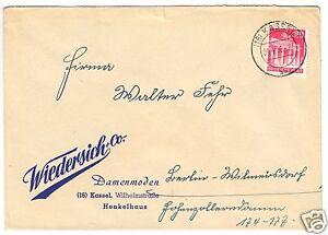 Bedarfspost-Mi-Nr-BRD-85-eg-Fa-Wiedersich-amp-Co-o-16-Kassel-7-5-4-50