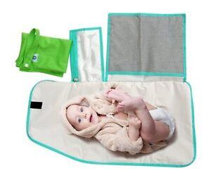 Pandaroos Portable Padded Waterproof Diaper Changing Mat/Pad & Large Wet Bag