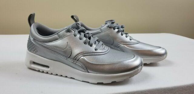 *New* Nike Air Max Thea Women's Size 6 Metallic Silver 861674 001