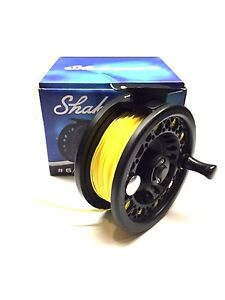 Leader fitted Tan 7 F Shakespeare 6//7 Fly Fishing Reel With Line Backing