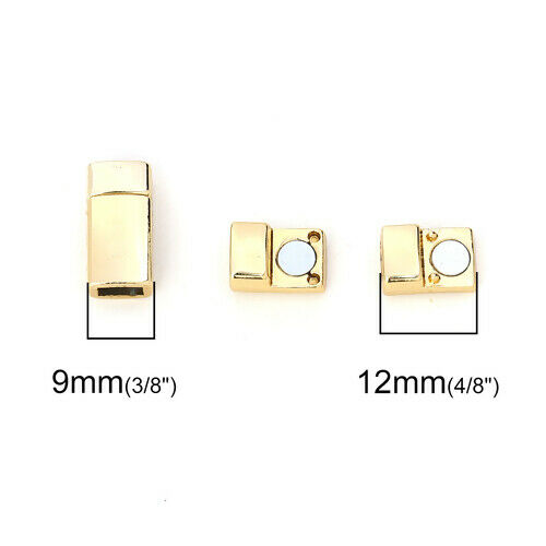 Oro Varios tipos de joyas broches magnéticos Plata Tono Fix Reparación hacer