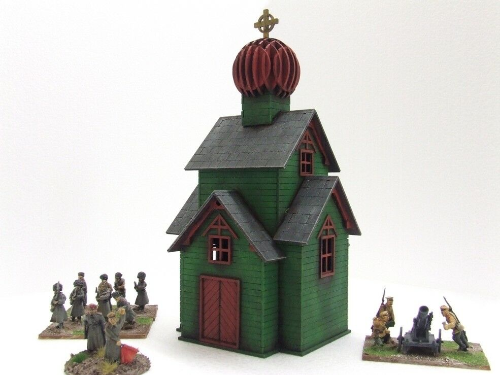'RUSSIAN CHURCH' (2) - 28mm  - ASSEMBLED MDF & PAINTED TO COLLECTOR'S STANDARD
