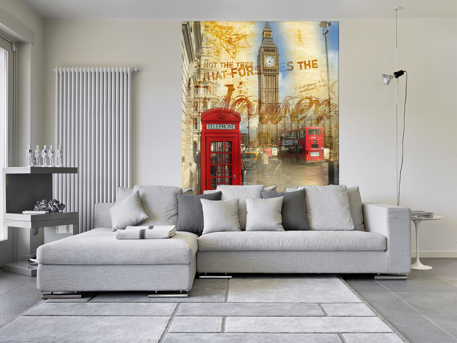 3D Bell Tower Telephone Stiefel Paper Wall Print Wall Decal Wall Deco Indoor Murals