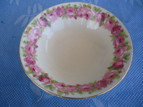vintage royal doulton raby rose d5533 cereal bowl  pink roses 8 available