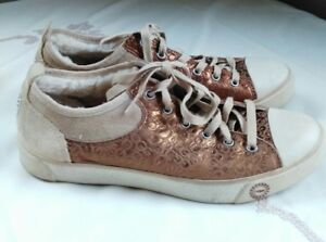 80f5a823a61 Details about UGG GRADIE GLITTER GOLD FASHION HIGH TOP SNEAKERS SIZE 8.5 US