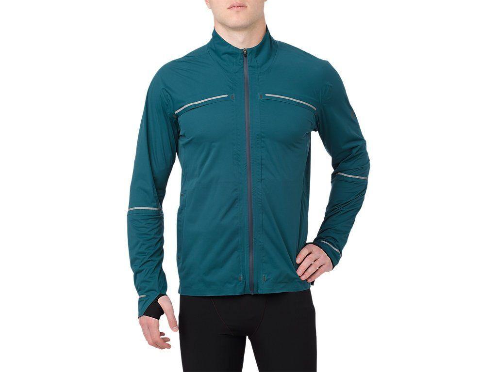Asics señores clima fijos de ejecución chaqueta lluvia chaqueta Best Jacket impermeable viento denso
