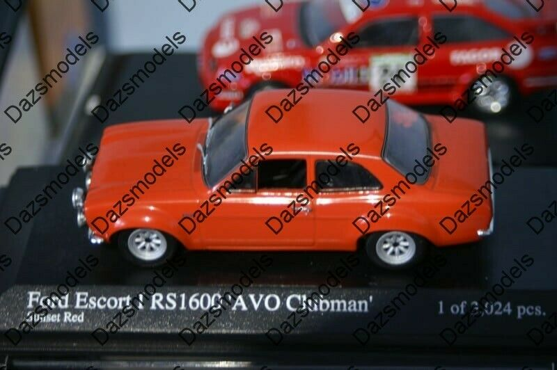 Minichamps Ford Escort Mk1 RS1600 AVO Clubman Rouge 1 43 400688101