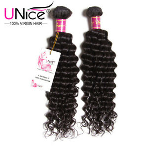 UNice-200gr-lot-8A-Grade-Brazilian-Hair-Virgin-Remy-Human-Hair-Bundles-Wholesale