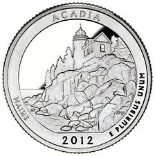 Stati Uniti  serie Park Quarter 2012 Acadia  Maine  zecca San Francisco
