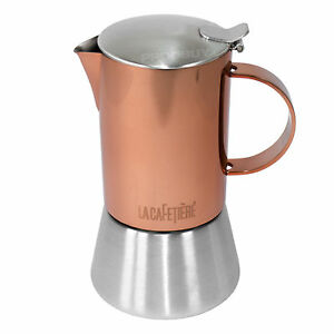 200ml Copper Stainless Steel Stove Top Espresso Moka
