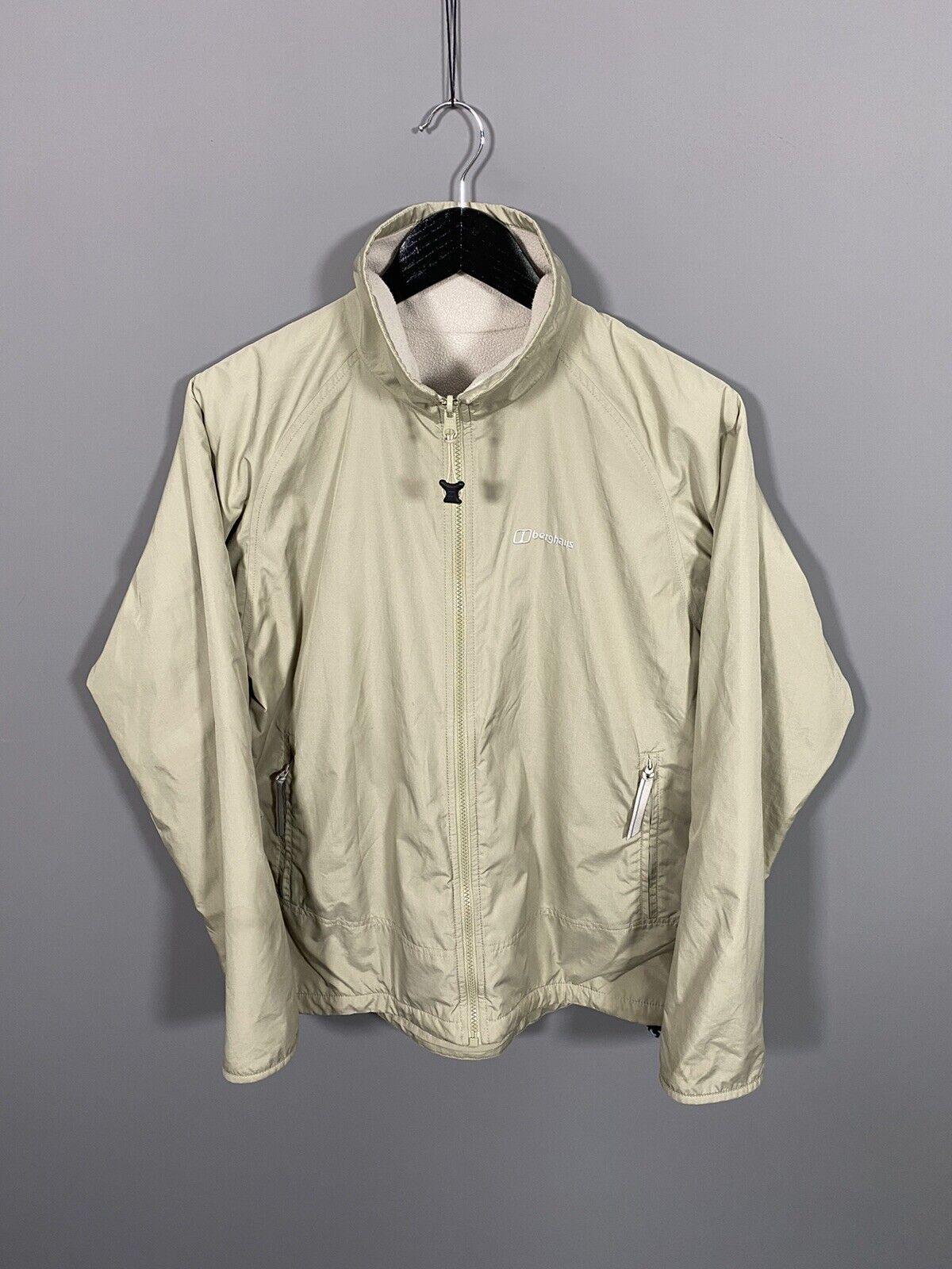 BERGHAUS Reversible Fleece Jacket - UK14 - Cream - Great Condition - Women's