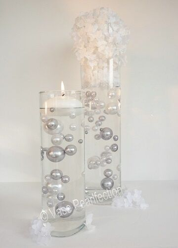 """Set of 3 Candles Value Pack 3/"""" Flower White Floating Candles Unscentend"""
