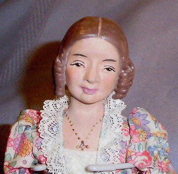 1961 Muñeca artista Helen Kingsbury Village Hostess Muñeca Sturbridge