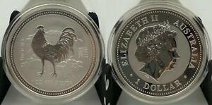 Australia-1-oz-1-dollar-2005-Silver-Year-Of-The-Rooster-Lunar-I