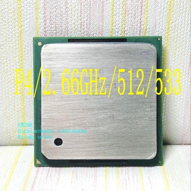 Intel Pentium 4 2.66 GHz (SL6PE) 512KB / 533 Socket 478 Desktop processor