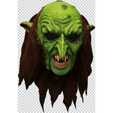 Green Goblin Deluxe Chinless Head Mask With Chinstrap Latex Halloween Mask