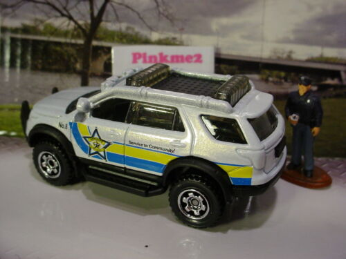 2015 POLICE SQUAD Design FORD EXPLORER☆White;Yellow//Blue;Sheriff☆LOOSE☆Matchbox