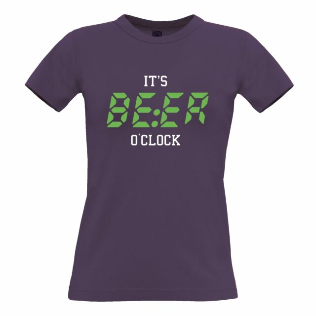 Mens Funny T Shirt It/'s BEER O/'Clock Slogan Pub Drinking Novelty Joke Tshirts