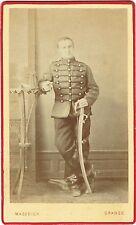 Photo cdv : Mazodier ; Cavalier , Chasseur à Cheval , 15ème Régiment , vers 1880