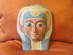 ** RARE Antique Egyptian Mask of Ancient Pharaoh Queen Hatshepsut Collection *