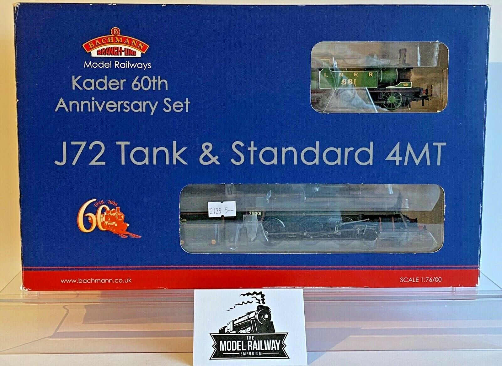 BACHuomoN 00 GAUGE  30060  KADER 60TH ANNIVERSARY J72 STeARD 4MT TWIN SET