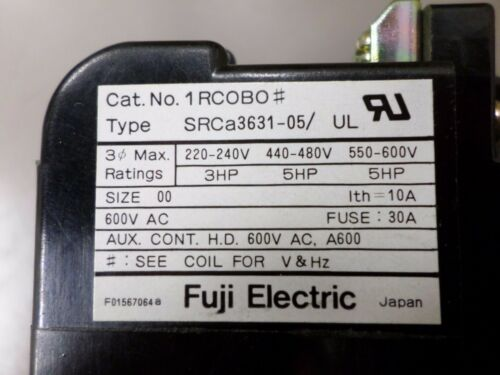 Fuji Electric SRCa3931-05 Magnetic Switch Contact Starter  2.8 to 4.2 AMP Range