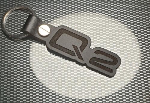 Audi Q2 Leather Keyring keychain BLACK OL