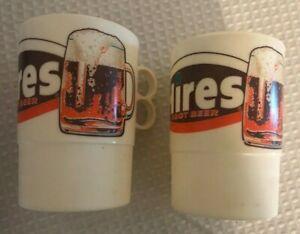 2-Hires-Root-Beer-Plastico-Coleccionable-Taza-por-Whirley-11-4cm-Alto