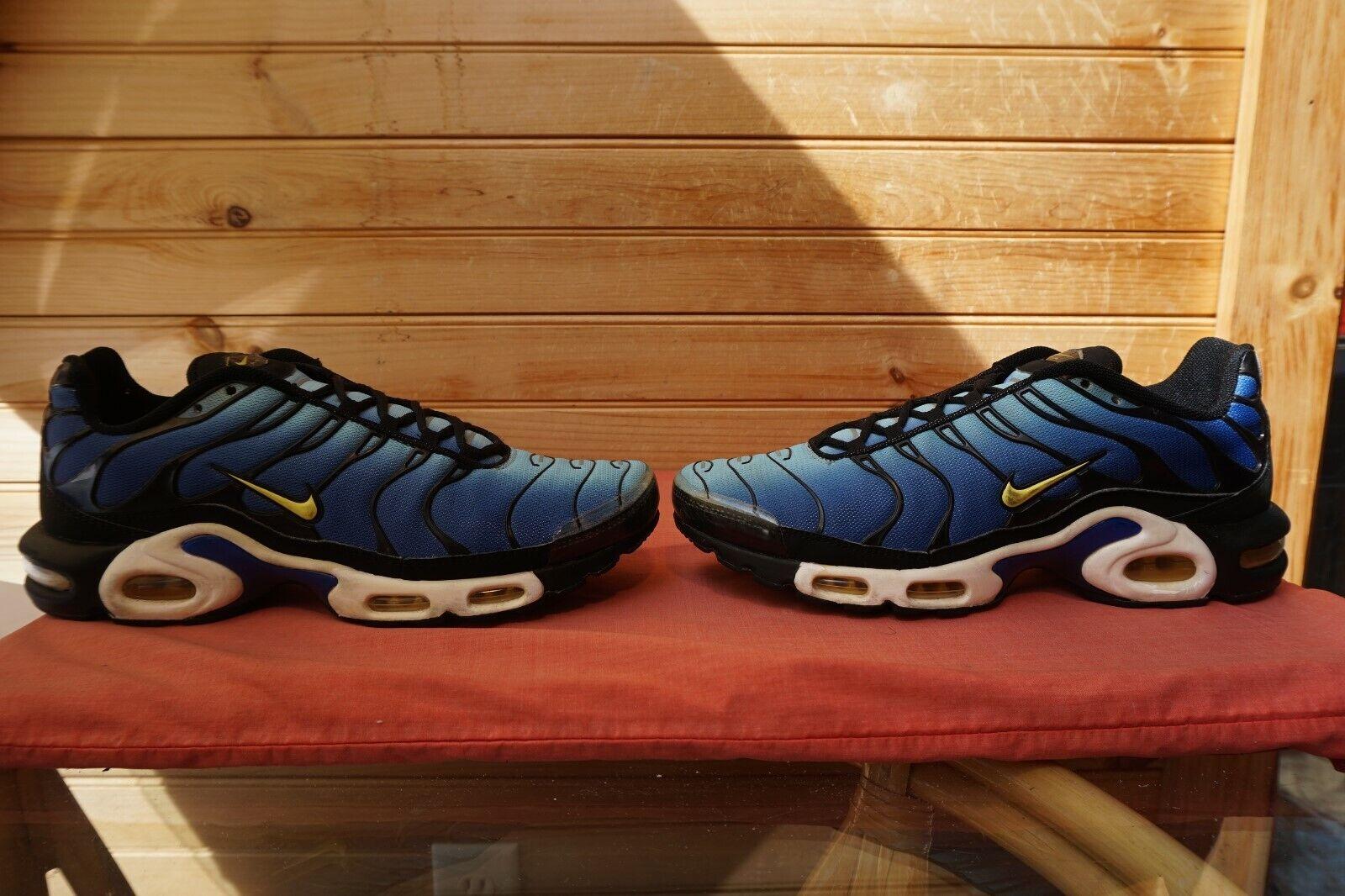 2013 Nike Air Max Plus  Hyper bluee Chamois Sky bluee  Sz 11 (L147) 604133-475