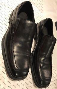 ALFANI-Sahara-Slip-On-Black-Leather-Loafers-SZ-12M