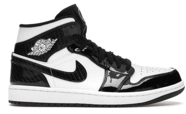 Size 10 - Jordan 1 Mid Black/White for sale online | eBay