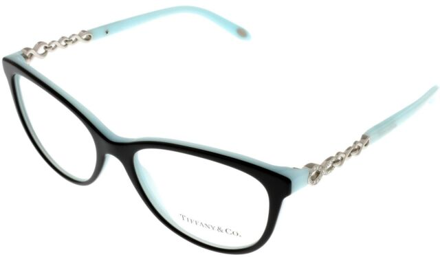 f4ea76c6198 Tiffany   Co Prescription Eyewear Frames Womens Cateye Black Blue ...