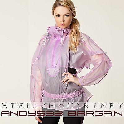 $320 Adidas Stella McCartney Women's Run Rain Jacket Windbreaker Shell 2XS XS S
