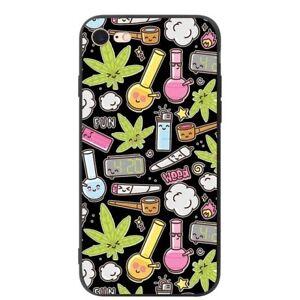 Hoja-De-Hierba-Cannabis-Funda-iPhone-5-6-6S-7-8-Plus-Xr-XS-11-Pro-Max-X-SE-2nd