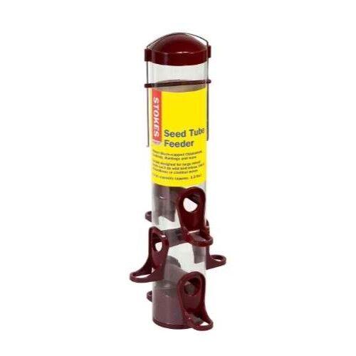 Stokes Select Seed Tube Bird Feeder with Six Feeding Ports, Red, 1.6 lb Capacity