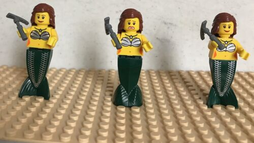 Pirate  Mermaid Minifigure NEW X3 Lego Castle