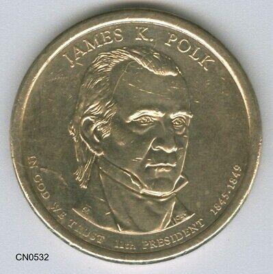 2009 D James K Polk Presidential Dollar  *MINT CELLO*  **FREE SHIPPING**