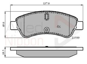 Citroen DS4 1.6 HDI 115 Genuine Borg /& Beck Front Brake Pads Set