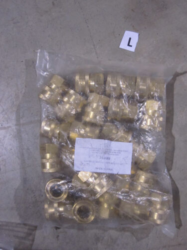 25 New Brass Sockets 3//8 FPT Quick connect fitting MTM Hydro 24.0069