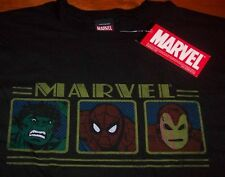 VINTAGE ISTYLE RON MAN SPIDER-MAN HULK Marvel Comics T-Shirt XL NEW The Avengers