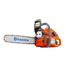 "New Husqvarna 450E II Gas Powered Chainsaw Smart Start 50.2cc 18"" Bar .050 Chain"